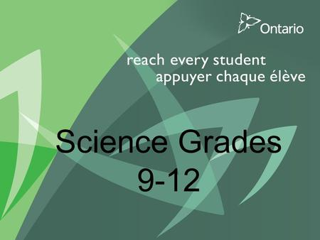 1 Science Grades 9-12. 2 Agenda- STSEs Purpose of the STSEs Teaching using the STSEs.