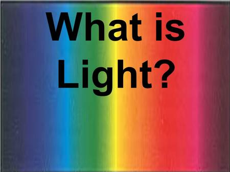 What is Light?. What Is Light? Energy! Energy…. Usually needs a medium for transmission. Ex. Heat transfers by convection or conduction.