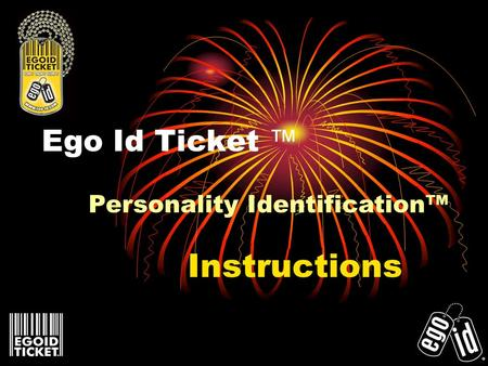 Ego Id Ticket Instructions Personality Identification.