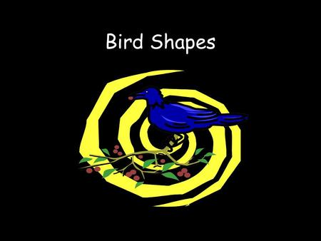 Bird Shapes.