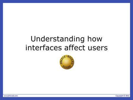 Understanding how interfaces affect users
