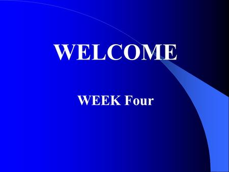 WELCOME WEEK Four. Agenda Special Compensation Issues PTSD Herbicide exposure presumptions Gulf War service presumptions Quiz.