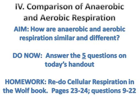 a. Anaerobic respiration starts with _________ ATP, ends with _________ ATP, and has a net of _________ ATP. a. The product of aerobic respiration has.