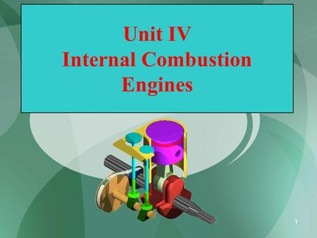 1 Unit IV Internal Combustion Engines. 2 Introduction Heat Engine: Heat Engine is a machine which converts heat energy supplied to it into mechanical.