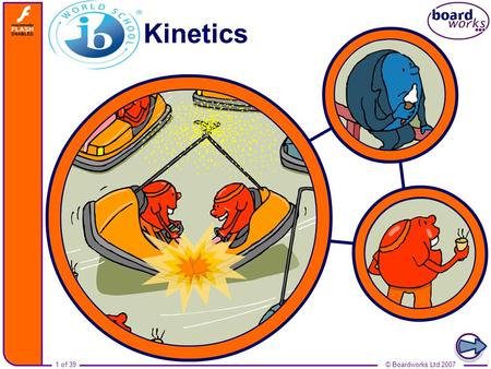 1 of 39© Boardworks Ltd 2007 Kinetics. © Boardworks Ltd 20072 of 39.