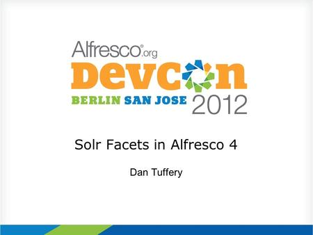 Solr Facets in Alfresco 4