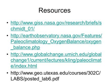 Resources  chmidt_01/http://www.giss.nasa.gov/research/briefs/s chmidt_01/