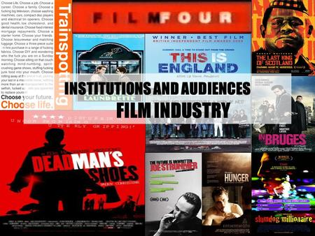 INSTITUTIONS AND AUDIENCES FILM INDUSTRY. AIMS Understand what is meant by the term New Media Technology and how it is different to old media technology.