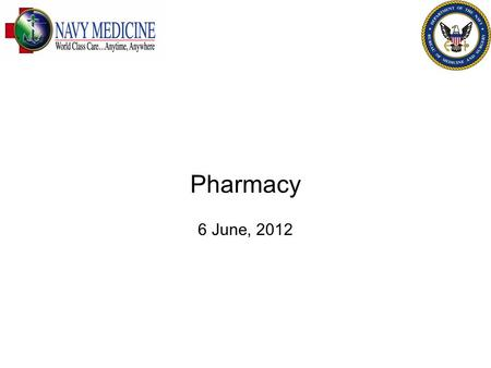 Pharmacy 6 June, 2012. Introduction Why Pharmacy Whats the problem What should we do about it FOR OFFICIAL USE ONLY 2.