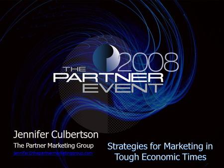 Jennifer Culbertson The Partner Marketing Group