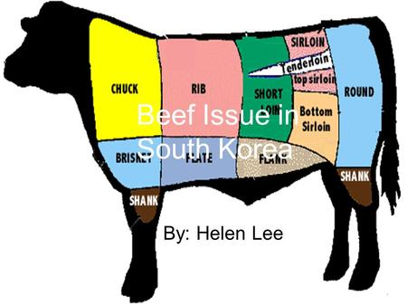 Beef Issue in South Korea By: Helen Lee. Beef!! Beef is used in many of Koreas traditional dishes and in many other foods. Nearly everyone Beef! (not.