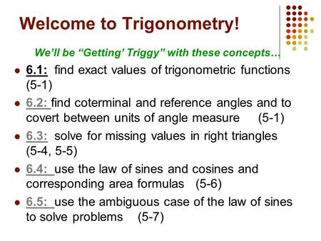 Welcome to Trigonometry!