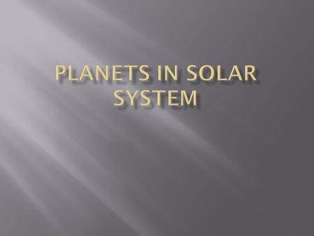 Our Solar System in Brief Our solar system formed around our star - the Sun - about 4.6 billion years ago. There are eight planets, 146 moons, numerous.