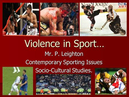 violence in sports essay outline