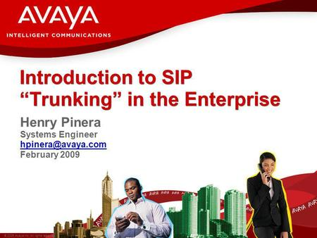 "Introduction to SIP ""Trunking"" in the Enterprise"