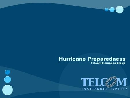 Hurricane Preparedness Telcom Insurance Group. Hurricane Wind Scale Hurricanes are classified into five categories based on their wind speed, central.