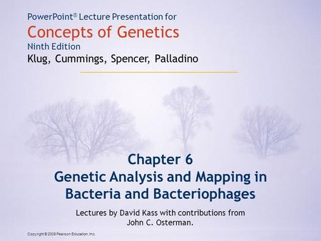 Genetic Analysis and Mapping in Bacteria and Bacteriophages