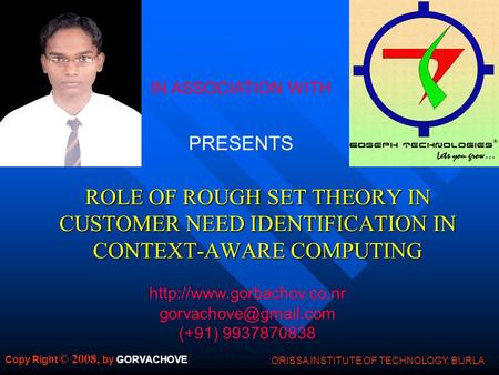 ROLE OF ROUGH SET THEORY IN CUSTOMER NEED IDENTIFICATION IN CONTEXT-AWARE COMPUTING IN ASSOCIATION WITH