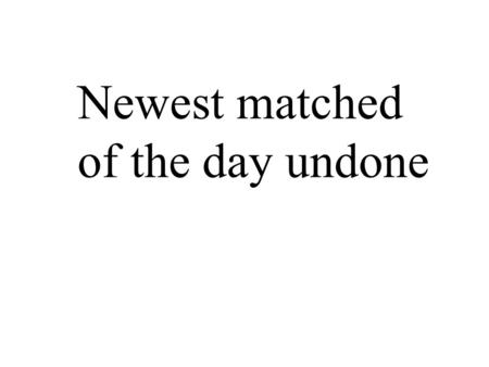 Newest matched of the day undone. We make a living by what we get We make a life by what we give We make a living by what we get We make a life.