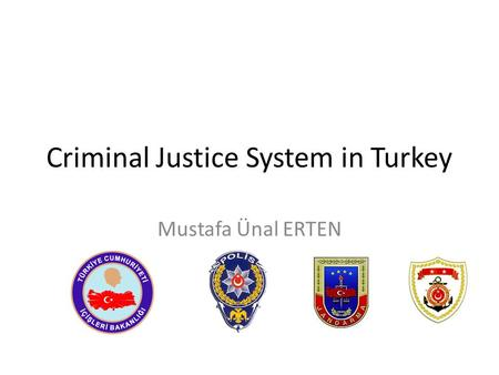 Criminal Justice System in Turkey