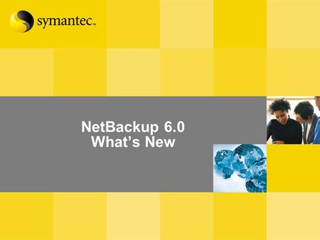 NetBackup 6.0 Whats New. Whats New in NetBackup 6.0 Management and Reporting Core Product Enhancements Disk Management and Optimization Additional NetApp.