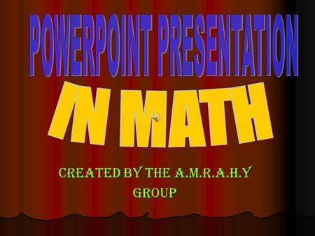 Created by the a.m.r.a.h.y group. first topic: number problems Of all the word problems, the number problems are the easiest to translate into equations.
