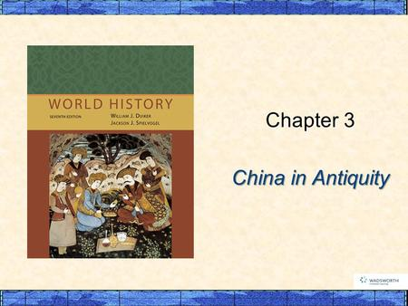 China in Antiquity Chapter 3. p64 I. The Dawn of Chinese Civilization A. The Land and People of China B. The Shang Dynasty (1500s-1000s B.C.E.) 1. Political.