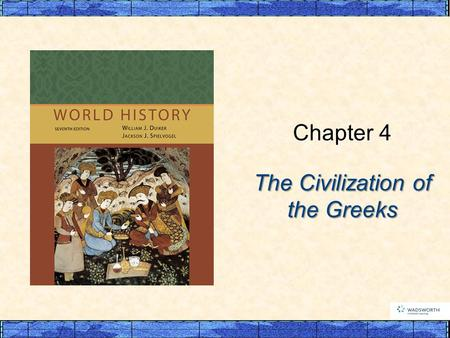 The Civilization of the Greeks Chapter 4. p92 I. Early Greece A. Minoan Crete B. The First Greek State: Mycenae C. The Greeks in a Dark Age (c. 1100–c.