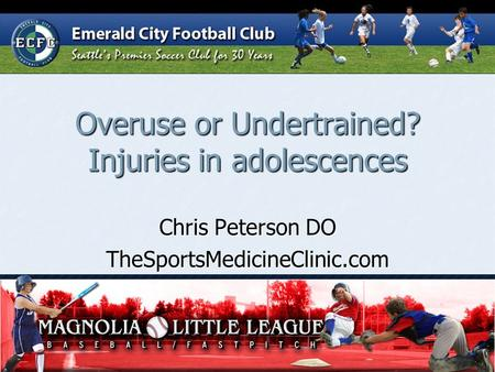 Overuse or Undertrained? Injuries in adolescences