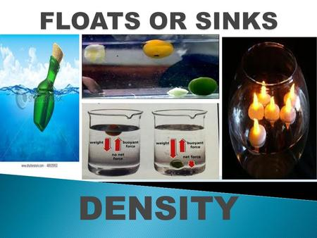 FLOATS OR SINKS DENSITY.