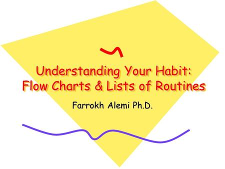 Understanding Your Habit: Flow Charts & Lists of Routines Farrokh Alemi Ph.D.