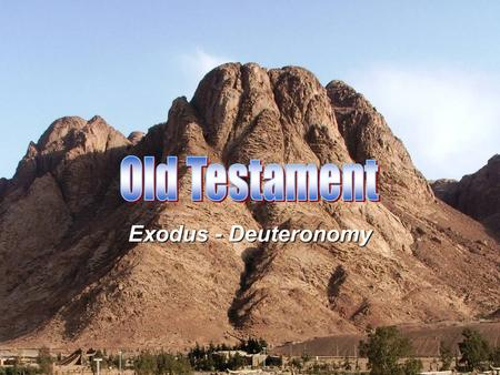 Exodus - Deuteronomy. Begins with all of humanity in view Exodus Begins with all the Israelites in view Eventually focuses on one manAbraham and his family.