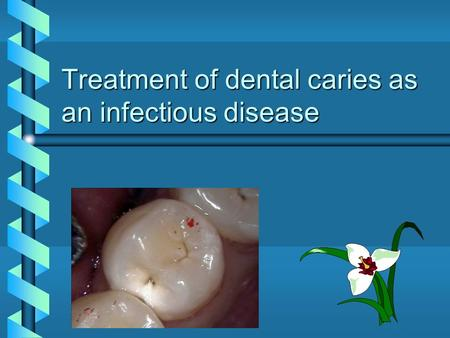 Treatment of dental caries as an infectious disease.