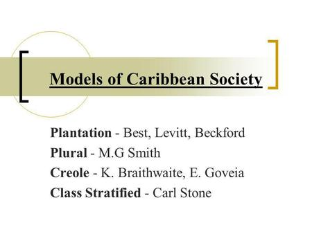 essay on social stratification in the caribbean