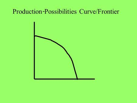 Production Possibilities Curve/Frontier -. Rum Crystal 1 million 100,000 700,000 30,000 A B 0 C 80,000 40,000 0 80,000 Ireland Puerto Rico A B C Crystal.