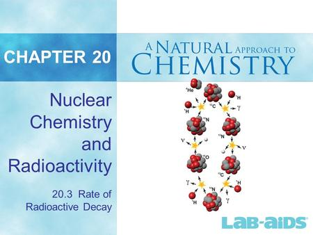 CHAPTER 20 Nuclear Chemistry and Radioactivity 20.3 Rate of Radioactive Decay.