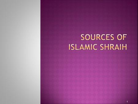 1. Shraih is the moral code and religious law of Islam. Sharia deals with many topics addressed by secular law, including crime, politics and economics,