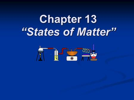 Chapter 13 States of Matter. Section 13.1 The Nature of Gases OBJECTIVES: OBJECTIVES: Describe the assumptions of the kinetic theory as it applies to.
