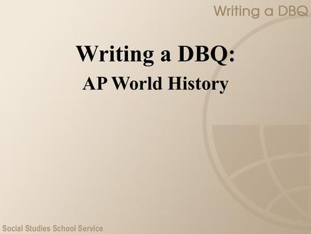 2007 ap world history dbq essay Write an essay that: • has a relevant thesis and supports that thesis with evidence from the documents • uses all of the documents • analyzes the documents by grouping them in as many appropriate ways as possible does not simply summarize the documents individually • takes into account the sources of the documents and analyzes the.