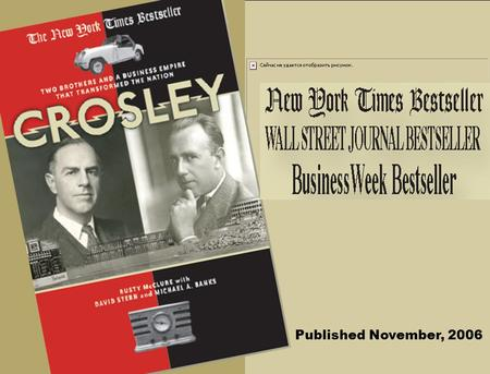 Published November, 2006. The Sarasota, Florida Estate, one of their eight mansions, Is today The Crosley Museum.