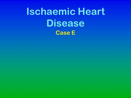 Ischaemic Heart Disease Case E. The History Mrs TZ 60yo, takes the following medications on a regular basis. –Moduretic 50/5mg (Amiloride/Hydrochlorothiazide)