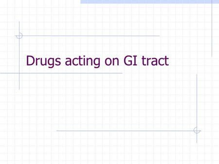 Drugs acting on GI tract. www.4medstudents.com2 Overview of vomiting Vomiting is a reflex that help get rid of harmful substances from Upper GI Tract.