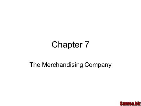 The Merchandising Company