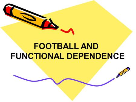 FOOTBALL AND FUNCTIONAL DEPENDENCE. TASK: A Football player passes the ball to his teammate. Determine on what depends the length of the flight of the.