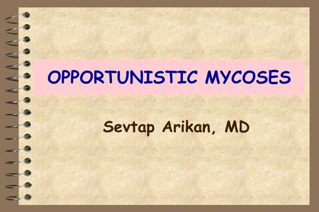 OPPORTUNISTIC MYCOSES Sevtap Arikan, MD. OPPORTUNISTIC MYCOSES General features CAUSATIVE AGENTS Saprophyte in nature/found in normal flora HOST Immunosupressed.
