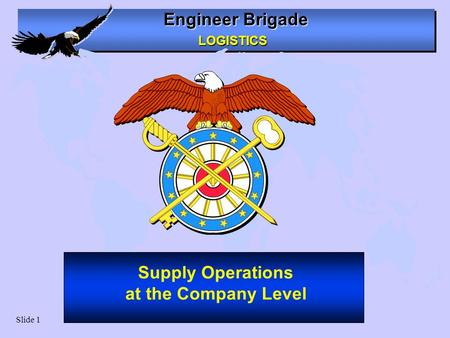 Supply Operations at the Company Level