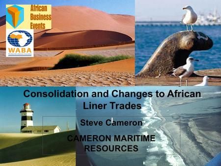 CMR 1 Steve Cameron CAMERON MARITIME RESOURCES Consolidation and Changes to African Liner Trades l.