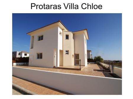 Protaras Villa Chloe. This beautiful detached villa for sale in the Protaras area is situated in an attractive residential corner of the fishing village.