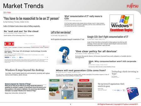 0 Agenda Market Trends and Business Considerations Fujitsu Customer Experiences Today Options Today and Beyond Q&A.