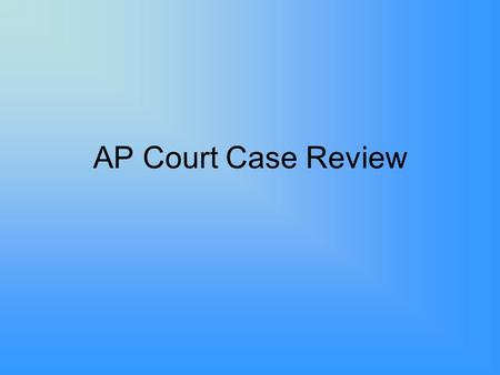 AP Court Case Review. Marbury v. Madison Argued:February 11, 1803 Decided:February 24, 1803 Facts of the Case –The case began on March 2, 1801 –Federalist,